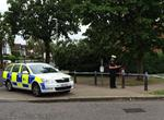 The park was cordoned off after the attack