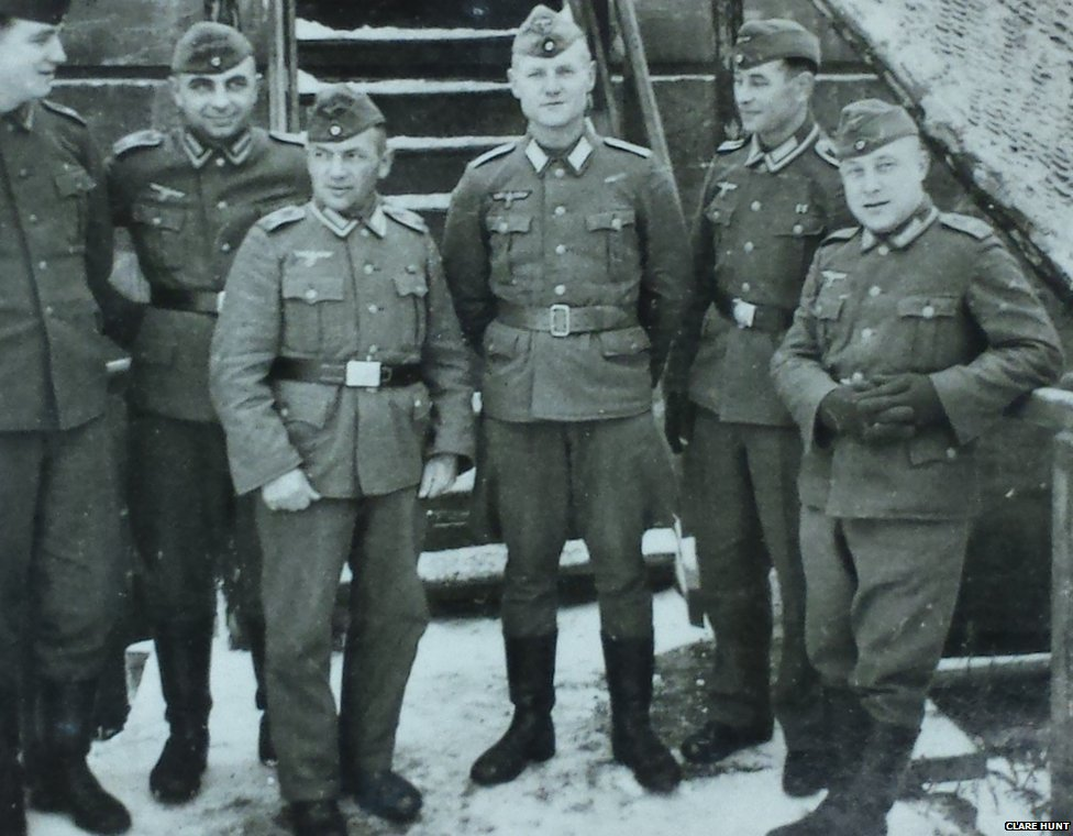 German soldiers in occupied Holland