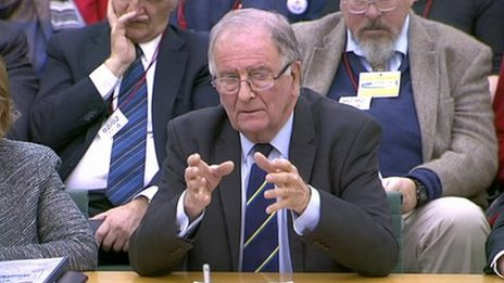 Sir Roger Gale giving evidence to the Commons Transport Select Committee