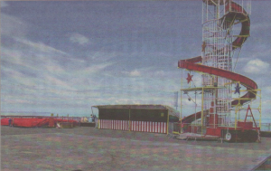 The helter skelter and the pool at the pier head