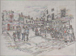 An artist's impress of how the Borough might look after the improvements