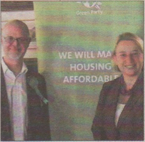 Candidate Stuart Jeffery with party leader Natalie Bennett