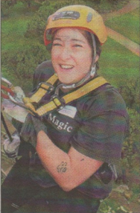 Holly Hemsley abseiled twice at the KM abseil challenge - the first time for Ashford charity Includes Us Two and then later for East Kent Rape Line