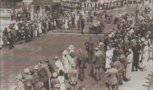 A big crowd gathered at the start