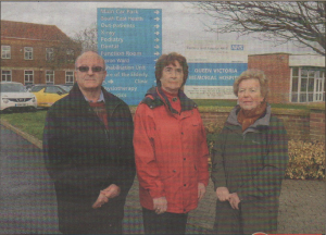 CAMPAIGN: Gillian Fowler (centre) with Chris Fox and Sue Coppins