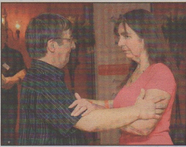 TEACHING MOMENT: Adrian and Christine Newell demonstrate the Argentine Tango