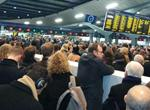 Commuters have described being packed like sardines on the platform. Picture Lizzie Fenwick