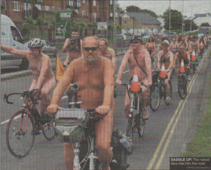 SADDLE UP: The naked bike ride hits the road