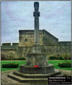 REMEMBERED: The War Memorial at Canterbury Cathedral