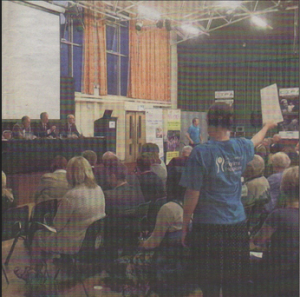 FACING THE CROWD: The hospice public meeting