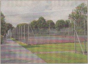 The tennis courts in Herne Bay Memorial Park