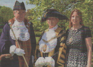 FAMILY: Lord Mayor Cllr Ann Taylor with her husband Bob and daughter Claire