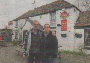 MUD: Claire and Trevor Robinson are worried about the impact of the construction on their business