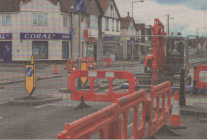 Not much sign of progress in Sea Street, where work to resurface the road seems to have come to a standstill
