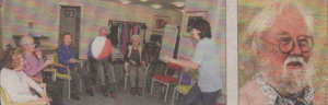 Artist Nathan Ariss was taken on a tour of Age UK's Deltinge centre, left, by trustee Ron Woodward, right