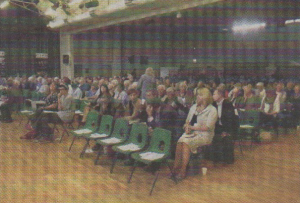 PACKED: The meeting hall was full