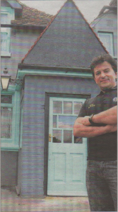 Owner Adam Papa outside the former Welsh Harp pub at Sturry
