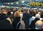 Commuters packed at the station in January. Picture Lizzie Fenwick