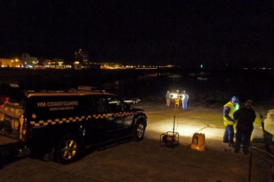 Emergency crews were called to help the men. Picture: Herne Bay Coastguard.