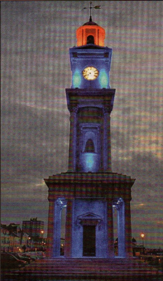 FEELING BLUE: The Herne Bay Clock Tower went blue for Autism Awareness Day