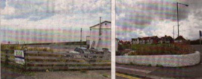 Front and rear views of the seafront site where plans are being made for a health spa and hotel