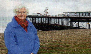 APPEAL: Doreen Stone, chairman of Herne Bay Pier Trust