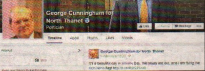 SWITCHED ON: George Cunningham's page is linked to his Twitter account