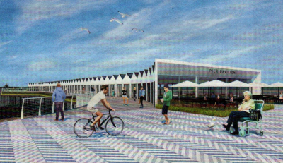 THE FUTURE? One of Herne Bay architect Tim Sanderson's impressions of how a revamped pier could look
