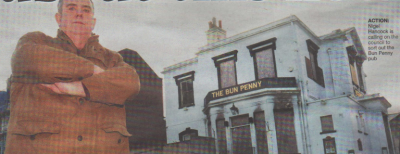 ACTION: Nigel Hancock is calling on the council to sort out the Bun Penny pub