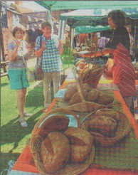 LOCAL DELICACY: Wild bread on sale at a farmers' market in Faversham