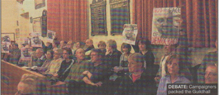DEBATE: Campaigners packed the Guildhall