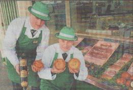 SHORTLISTED: Butchers Paul Barkaway and his dad Chris