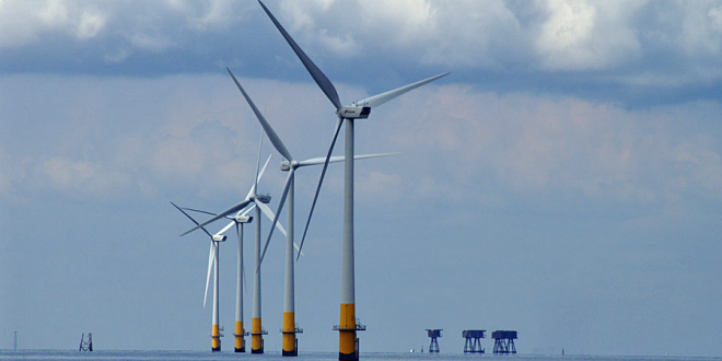 Windfarm and Shivering Sands forts